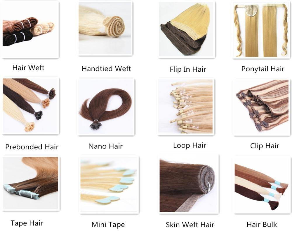 I V U Tip Pre Bonded Hair Extensions, 100% Virgin Full Russian Cuticle Remy Human Hair Extension