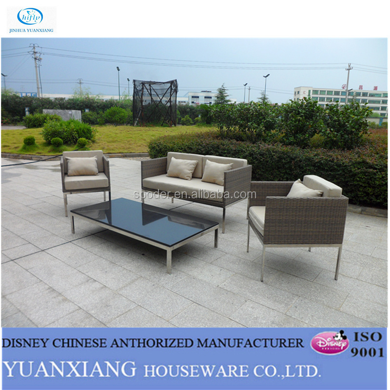 Yuanxiang Outdoor Rattan Garden Sofa Sectionals and Marble table