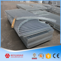 Factory Supply Plain Flat Bar Type Steel Grating,Mezzanines Steel Grates Grating,Close End Type Fences Steel Grating Price