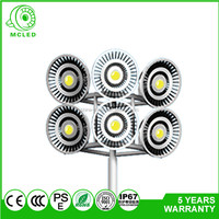 Hot Sale Galvanized 120W LED flood lamps leisure square with street high lighting pole