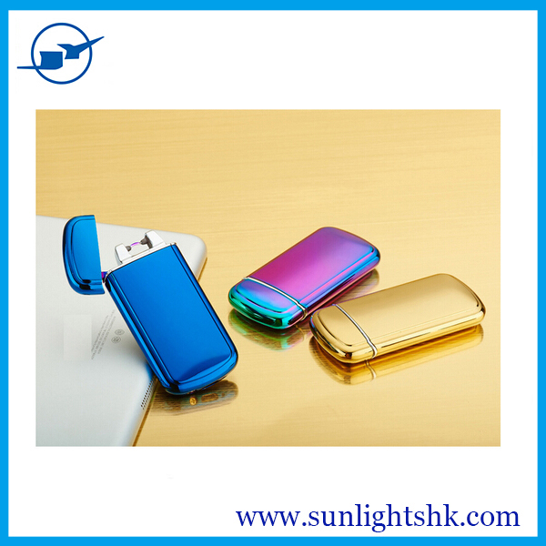factory price Smart usb charging pulse arc lighters ,double arc lighter