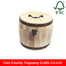 natural decorative mini cheap wooden coffee barrels for sale