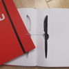 Hardcover Notebook With A Pen Office