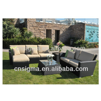 French style furniture garden furniture rattan sectional sofa set