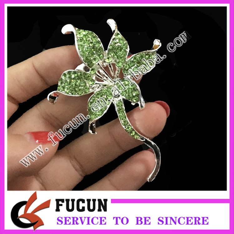 fashion new style rhinestone brooch clip jewelry for sale