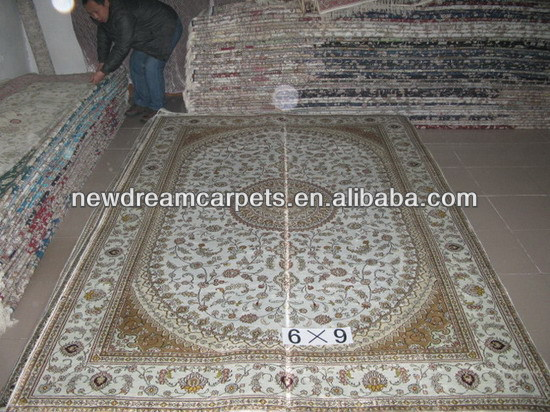 6'x9' Silk hand-made rug discount top quality new arrival home hotel silk carpet