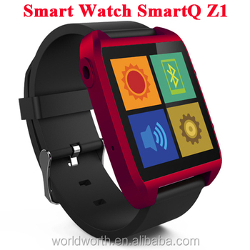 cheap touch screen watch phone 100% Original SmartQ Z1 Smart Watch For Iphone / Samsung Galaxy Note3 WIFI Bluetooth Android 4.3