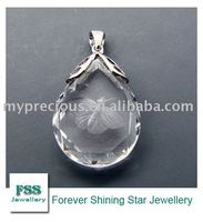 FSSP010 fashion silver crystal jewelry / carving craft