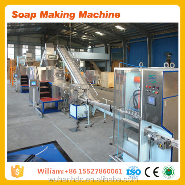 soap making mixing cutting plodder wrapping milling stamping machine