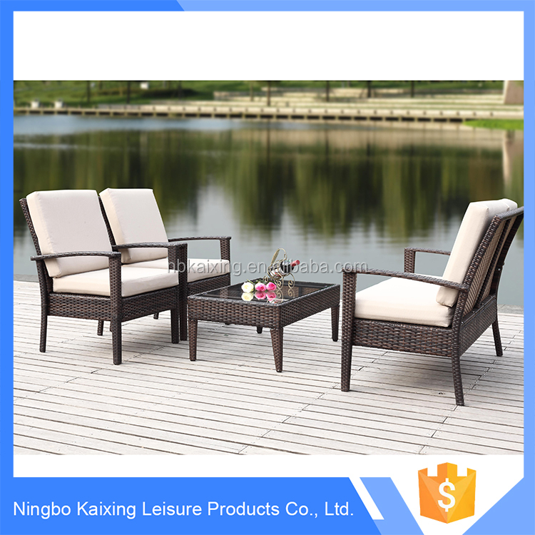 Outdoor rattan garden furniture set, patio outdoor furniture from china