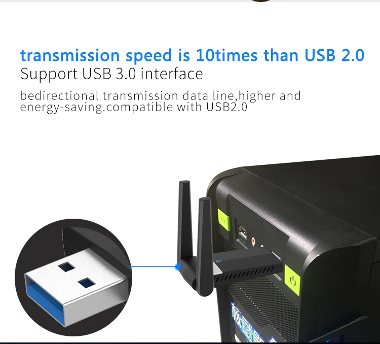 1200Mbps 11AC USB 3.0 Dual band 2.4G/5.8G WIFI Dongle