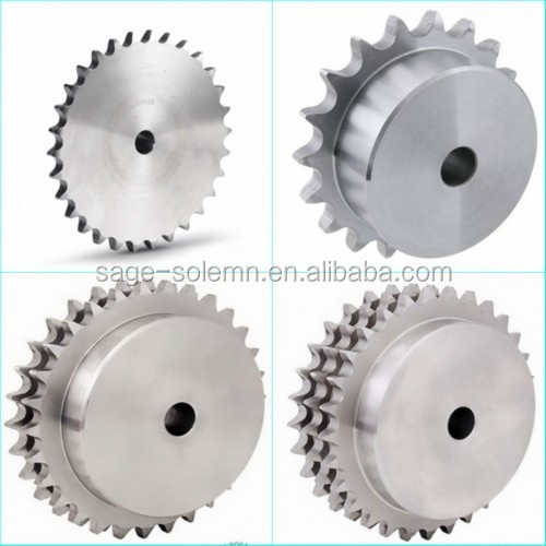 10B Stainless Steel Material Roller Chain Sprocket / ANSI Steel Sprocket Wheel