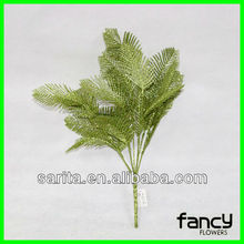good material 7 branches green fall leaves wedding decorations