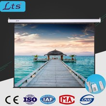 100 inch 110 inch 120 inch 150 inch 16:9 projector screen ceiling hanging motorized / electric screen for projector