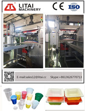 TBX-500 production line cup plastic automatic PLC control disposable food container making machine