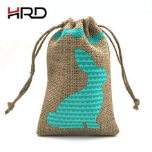 High quality wholesale burlap hessian gift good printed jute bag