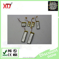 3.7V 80mah rechargeable lipo battery ,small lithium polymer battery xty401030