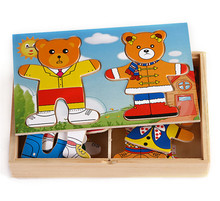 Intelligent educational ABC custom 3d puzzle diy toy wooden jigsaw puzzle