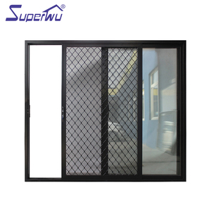 Hot sales japanese aluminium sliding door mosquito netting for bathroom