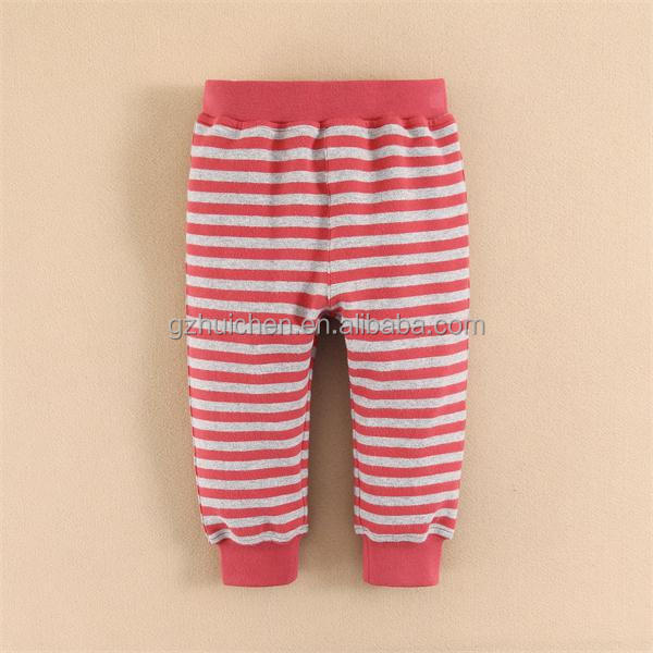 2015 baby clothes cotton baby pants red stripe pants