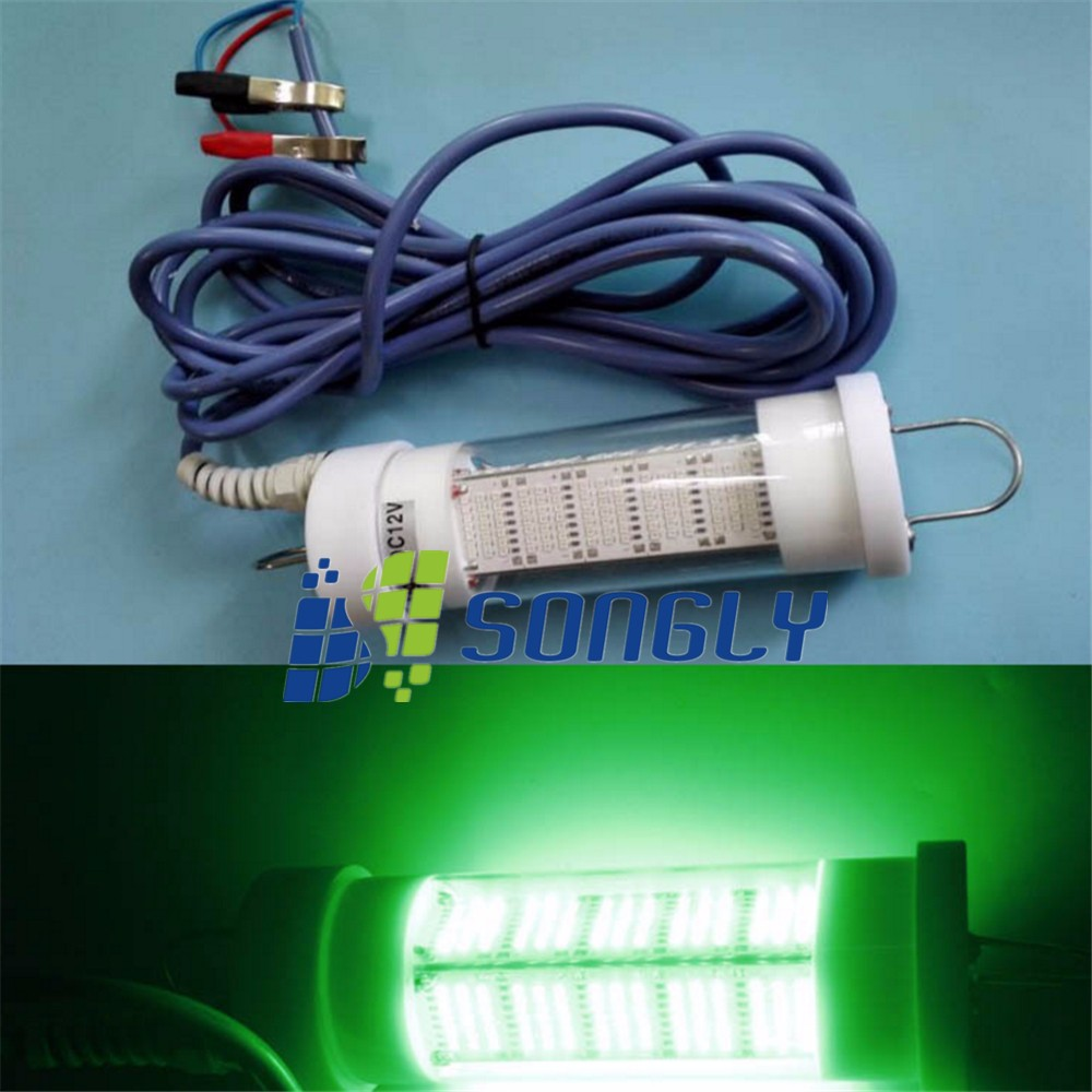 Deep sea use 12v led green fishing light 5m cables