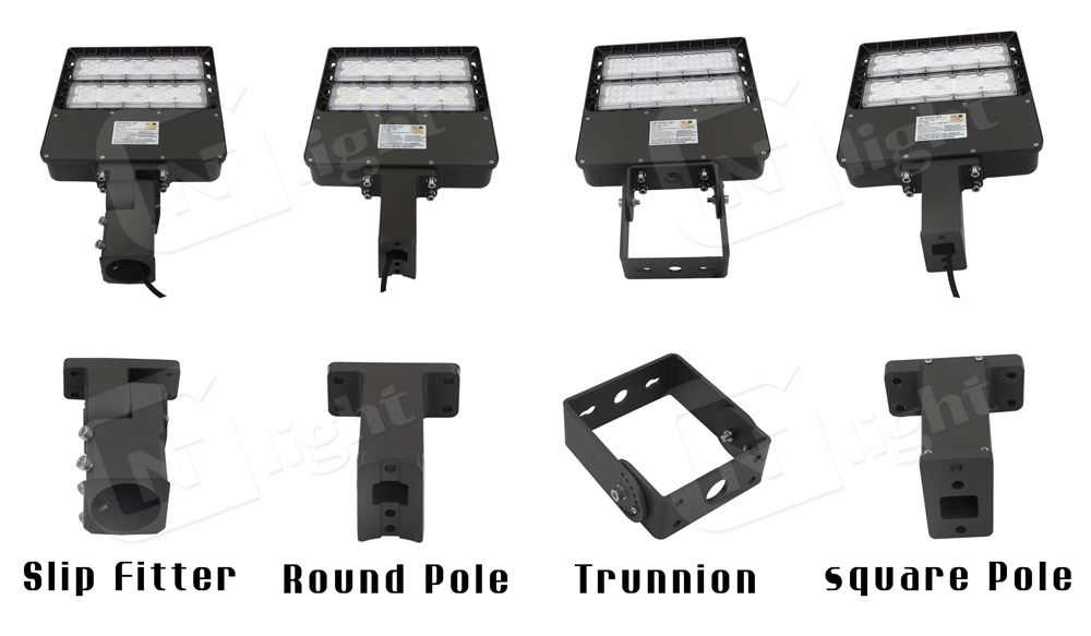 DLC Approved 240W LED Street Light Parking Lot Pole Fixture 1000W HPS Replacement Outdoor Area Slip Fitter Lighting IP65 5700K