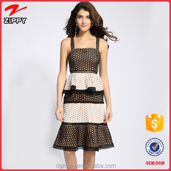 Newest design Fashion clothes women lace dress design