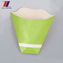 High quality Custom printed carton cone packing for french fries chips box potato chip container