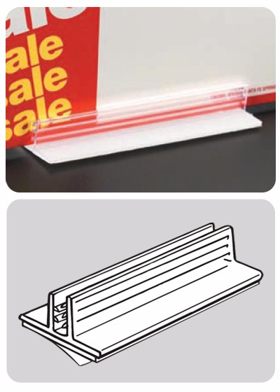 Wobblers adhesive pvc sign grip supermarket promotion display label holders