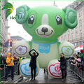 Giant Green Inflatable Advertising Animal , Inflatable Bear Shape Helium Balloons For Parade