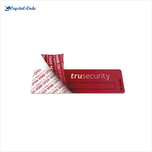 Cusotm made vinyl security tamper proof void label
