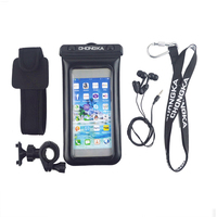 Hot Sale Low Price Waterproof Cell Phone Bag with Headphone