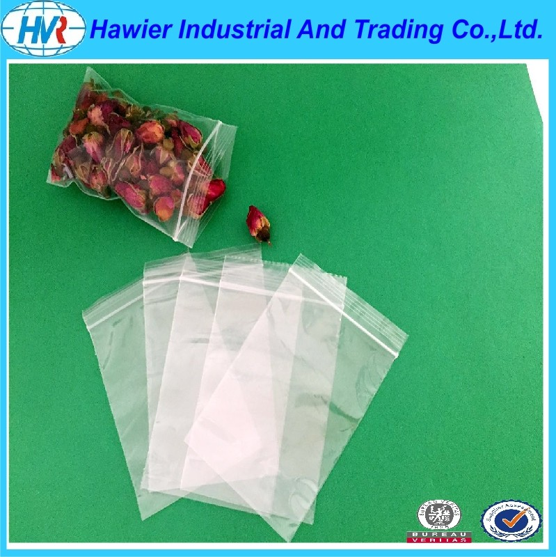 Hawier produce transparent low density poly ziplock bag