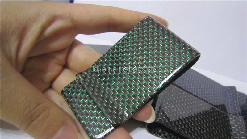 New fashion Green carbon fiber Money Clip High Quality Ultrathin Pocket Clamp Credit Card Case ID card case