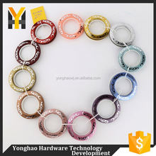 New selling contemporary colorful curtain eyelet plastic ring for curtains