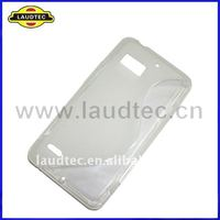 S Type Design TPU Wave Silicone Gel Skin Case Cover for Motorola Targa