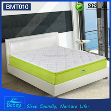 Relaxing single pocket spring natural latex mattress with resilient foam layer sizes customized