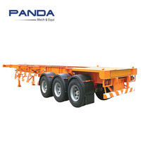 Panda Tri-axles 3 axle 20ft 40ft container semi trailer price in india