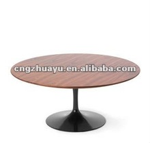 wood top fiberglass base saarinen tulip table