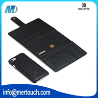 3 Fold Wallet Genuine Leather Case Cover Pouch with Card Slot For iPhone 7 plus, For iPhone 6 wallet case