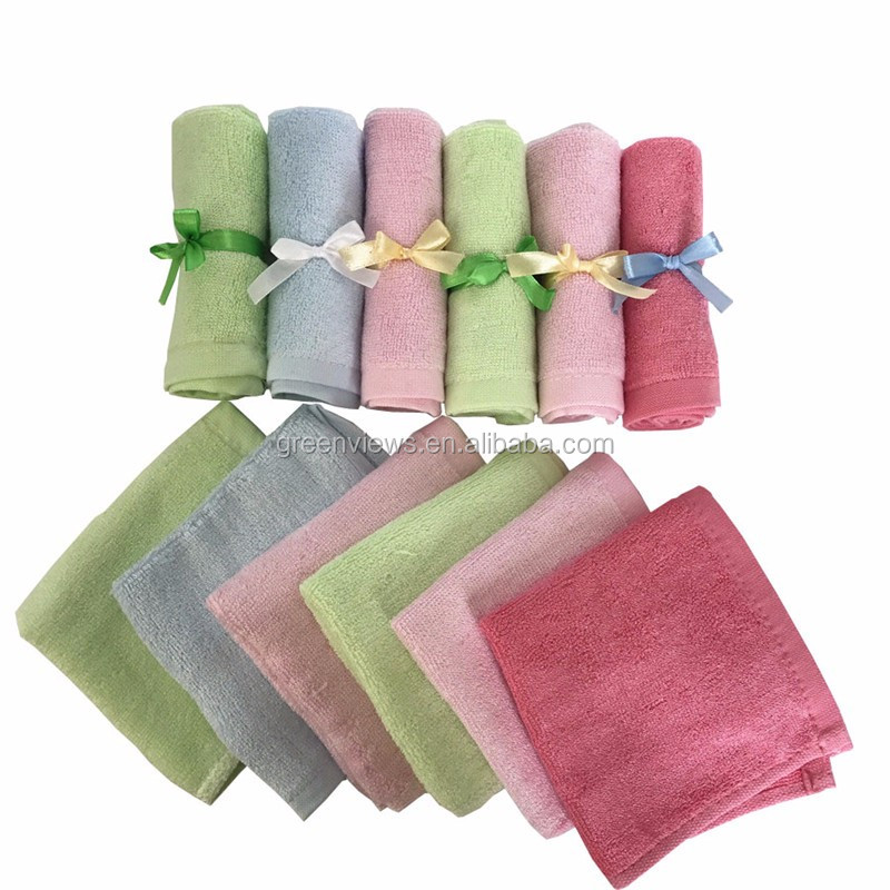 "Sample Organic cotton Washcloths 10""x10"" Baby Face Towel bamboo wash cloth 100 bamboo washcloth china bulk wholesale"