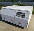 Jack Off White Aluminum UTE Canopy (Dog Box, No Back Door)