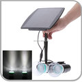solar energy lighting kits 2 Two Bulbs Lamp LED Light System for home shed indoor garage barn cottage (JL-4523B)