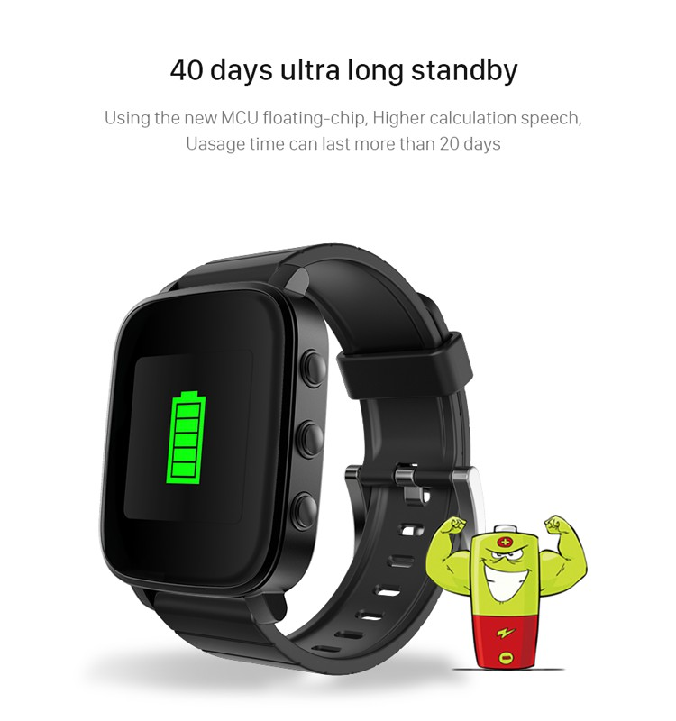 40 Day Standby 176 x 176 LCD Support iOS/Android Sport Watch Bluetooth Smart Watch 2017