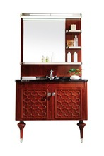 Antique design hanging washroom cabinet wash vanity