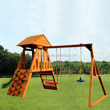 Outdoor Playground Swing with Slide Set