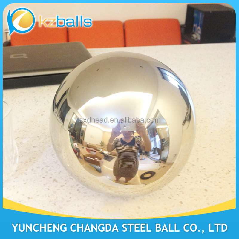4 inch with base polished 304 stainless steel hollow ball