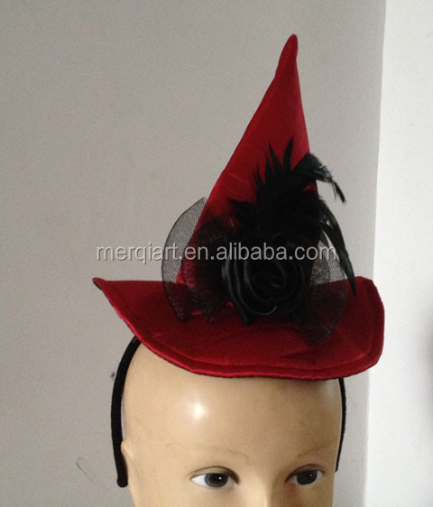 New halloween min hat on headband fancy address accessory with spide accessory