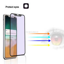3D Anti blue light Japan asahi glass air free bubble anti av tempered glass film screen protector for iphone X