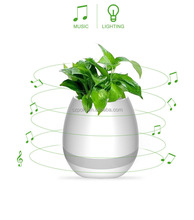 Hot Selling Creative Music Flowerpot, Playing Piano on a Real Plant of Touch Smart Flower Pot